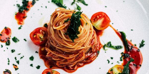 Vegan arrabbiata pasta