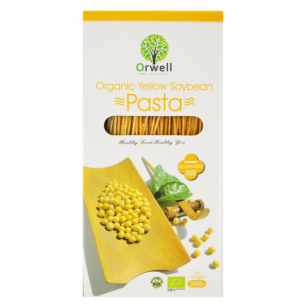 Large organic yellow soybean pasta spaghetti